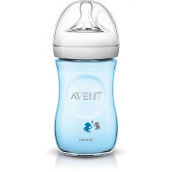 Philips Avent Natural Decorated Bottle (Monkey Design) 9oz / 260ml - Single Pack