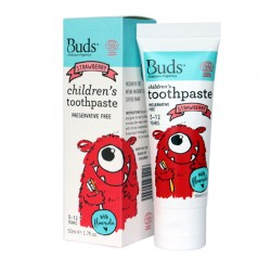 Buds Oralcare Organics Children's Toothpaste with Flouride 50ml - Strawberry