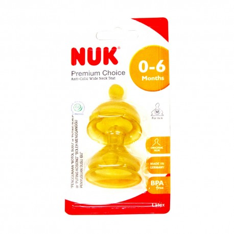 NUK Latex PC Teat size 1 medium - 2 pcs/card
