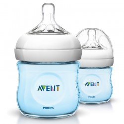 Philips Avent Natural Bottle 4oz/125ml Twin Pack - Blue
