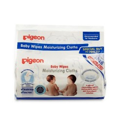 Pigeon Baby Wipes Moisturizing Cloths, 70's X 2