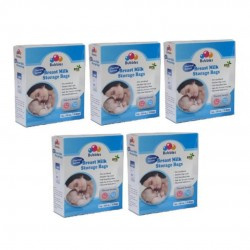 Bubbles Thermal Sensor Breastmilk Storage Bags 7oz (5 Packs)