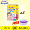PETPET Comfort Tape Mega Pack XL 3x40's (FREE Food Container)