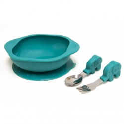 Marcus & Marcus Toddler Mealtime Set (Green Ollie)
