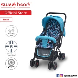 'Sweet Heart Paris ST220 Etoile Stroller with 8pcs Wheels and Reversible Handlebar (Star Teal)'