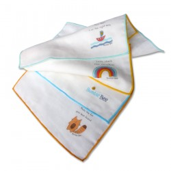 Bumble Bee Cotton Gauze Face Cloth (Twin Pack)