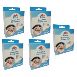 Bubbles Double ZipLock Breastmilk Storage Bag 7oz (5 packs)