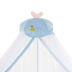 Royalcot Baby Cot Mosquito Net Blue Whale With Clamp (White)