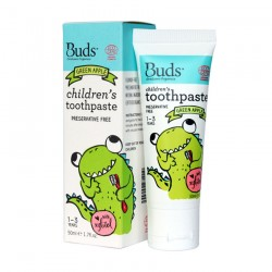 Buds Oralcare Organics Children\s Toothpaste with Xylitol 50ml - Green Apple