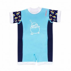Cheekaaboo Chittybabes Suit-Light Blue / Puffer Fish