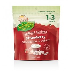 Rafferty's Garden Toddler Snack-Yoghurt Buttons S/Berry 28G