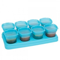 Autumnz - Easy Baby Food & B/milk Storage Cups - 2oz - Ocean Blue