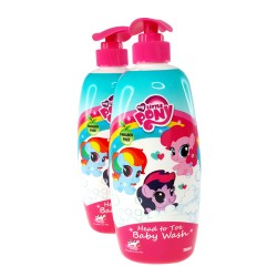 My Little Pony Twin Pack Head to Toe Baby Wash 750ml (Honey Strawberry Cow Milk)