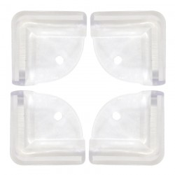Puku Transparent Desk Corner Cushion 3M Sticker L Shape Baby Home Safety 4pcs P30526-899