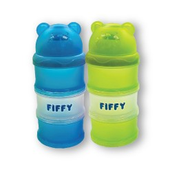 FIFFY 2 In 1 Compartments Milk Powder Container (Blue & Green) - 98-996VP