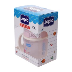 Japlo Deluxe 130Ml Feeding Bottle Pink (With Handle)- With 1 Silicone Nipple