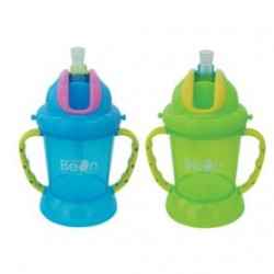 Little Bean 180ml / 6oz Cup without Belts - Blue & Green