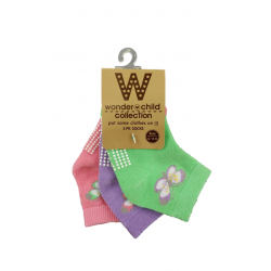 BABY STYLE ASIA Baby Girls Butterfly Socks (3 Pairs)