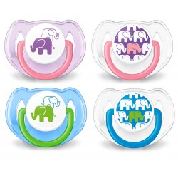Philips Avent Soother Elephant 6-18 Months (Twin Pack)