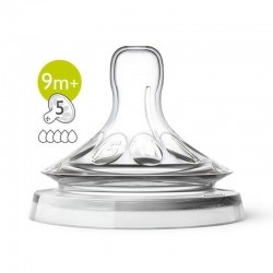Philips Avent Natural Teat (9 Months+  5 Holes) - Twin Pack