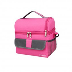 V-Coool Classic Double Deck Cooler Bag (Pink)