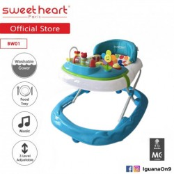 Sweet Heart Paris Baby Walker BW01 (Blue) With 3 Height Adjustment\''
