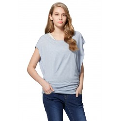 Mamaway 2 in 1 Maternity & Nursing Top (Blue)