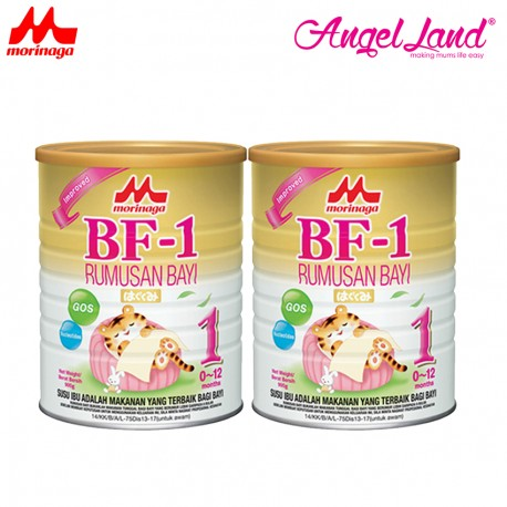 Morinaga BF-1 Infant Formula (0-12month) 900g (2 tin)