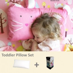 Milo & Gabby Toddler Pillow & Pillowcase Set (Bunny Designed)