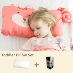 Milo & Gabby Toddler Pillow & Pillowcase Set (Squirrel Designed)