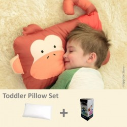 Milo & Gabby Toddler Pillow & Pillowcase Set (Monkey Designed)