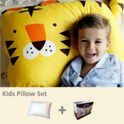 Milo & Gabby Kids Pillow & Pillowcase Set (Tiger Designed)