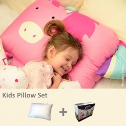 Milo & Gabby Kids Pillow & Pillowcase Set (Unicorn Designed)