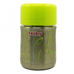 Nuby 450ml Stainless Steel Food Jar - Green