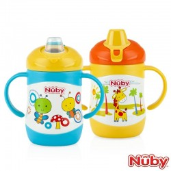 Nuby Click -It Twin Handle  Stainless Steel Cup 220ML/7OZ