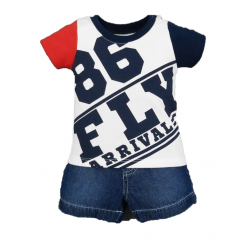 BABY STYLE ASIA Baby Boys Flight Club 86 Polo & Shorts