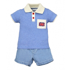 BABY STYLE ASIA Baby Boys London Boy Polo & Shorts