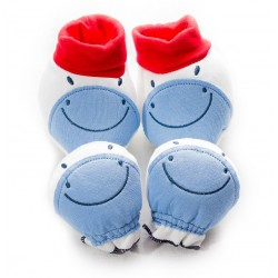BABY STYLE ASIA BABY 3D BOTTIES & MITTENS SET (BM-3B)