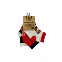 BABY STYLE ASIA BABY BOYS RED BEAR SOCKS (3 PAIRS)