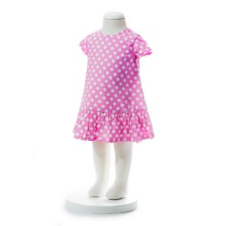 BABY STYLE ASIA Baby Girls Summer Style Pink Polka Dot Dress