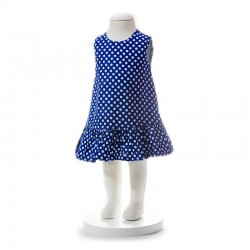 BABY STYLE ASIA BABY GIRLS SUMMER STYLE BLUE POLKA DOT DRESS