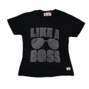 BABY STYLE ASIA Baby Boys Like A Boss Black T-Shirt (Free Shorts) Flynn Collection