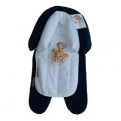 Babyhood 2 in 1 Head Support (Navy White)