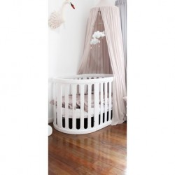 Babyhood Kaylula Sova Cot 5-in-1 Classic (White) with FREE Breathe Eze Mattress