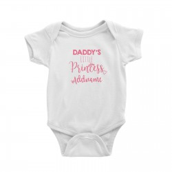 Babywears.my Daddy's Little Princess Addname T-Shirt  Personalizable Designs For Girls Pinky