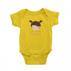 Babywears.my Cute Girl with Two Pony Tails I Am Little Addname T-Shirt Personalizable Designs For Girls