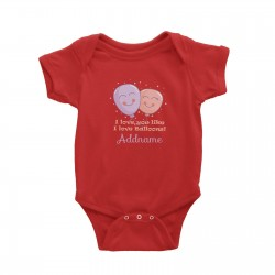 Babywears.my Cute Balloons I Love You Like I Love Balloons Addname T-Shirt Personalizable Designs