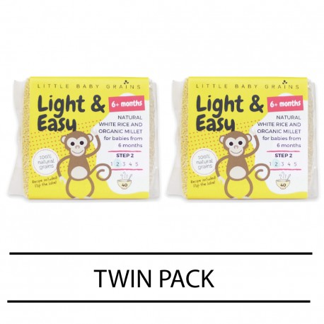 Little Baby Grains Light & Easy Chemical Free White Rice (Twin Pack)
