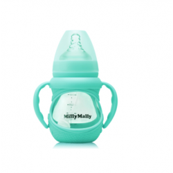 MillyMally Macacon Baby Glass Bottle-Wide Neck-L Nipple
