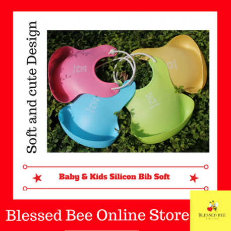 Silicon Baby/kids Bib (Soft material) Ready stock